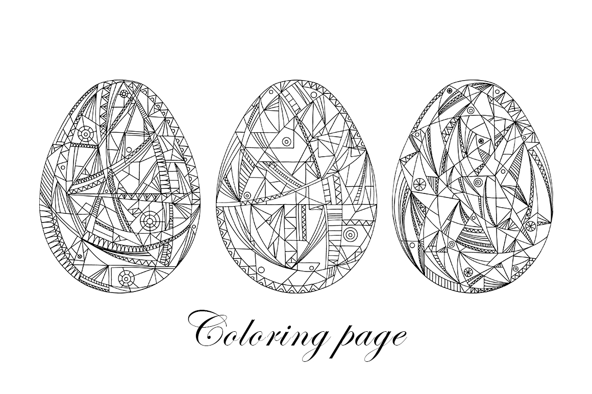 Easter eggs set. example image 3