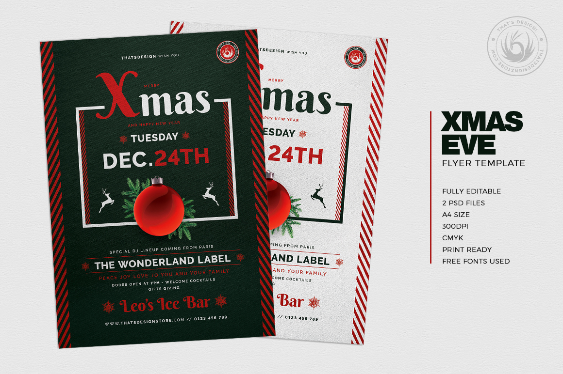 Christmas Eve Flyer Template V12 example image 2