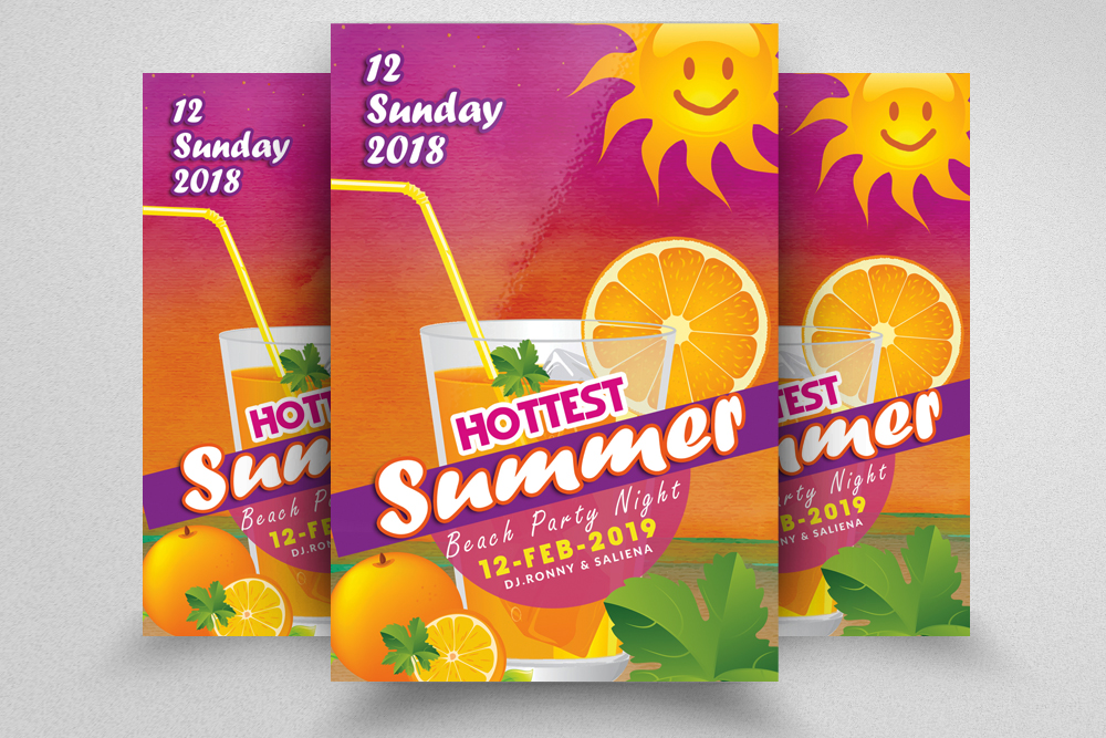 10 Summer Beach Cocktail Party Flyers Bundle example image 3