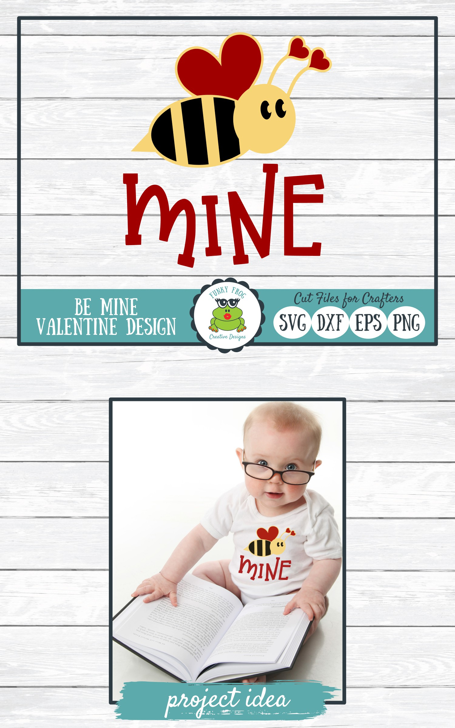 Bee Mine Valentine SVG Cut File for Crafters example image 4