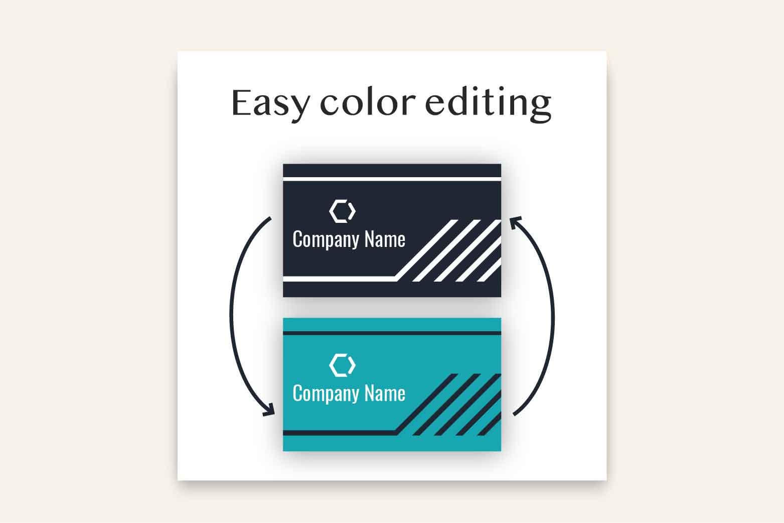 Dark Modern Business Card Template example image 3