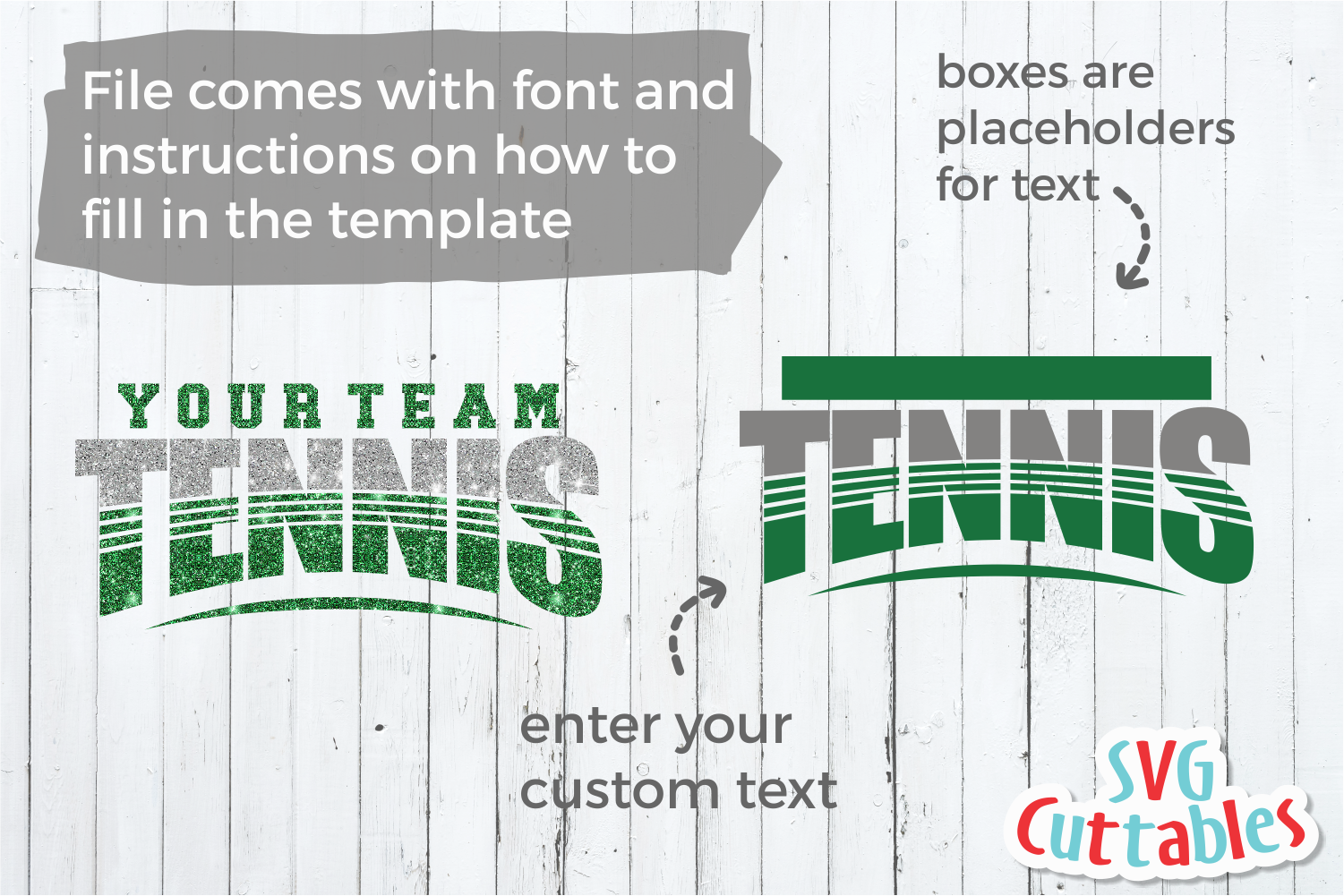 Tennis Template 002 | SVG Cut File example image 2