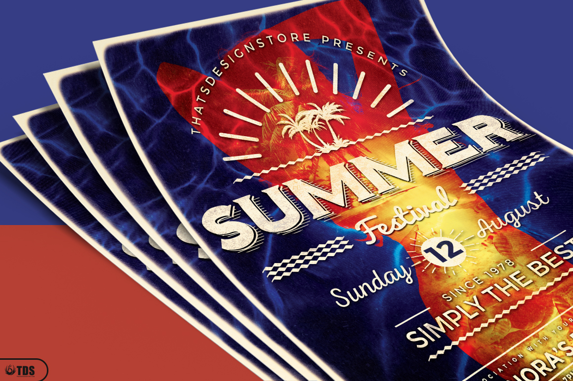 Summer Fest Flyer Template V3 example image 3