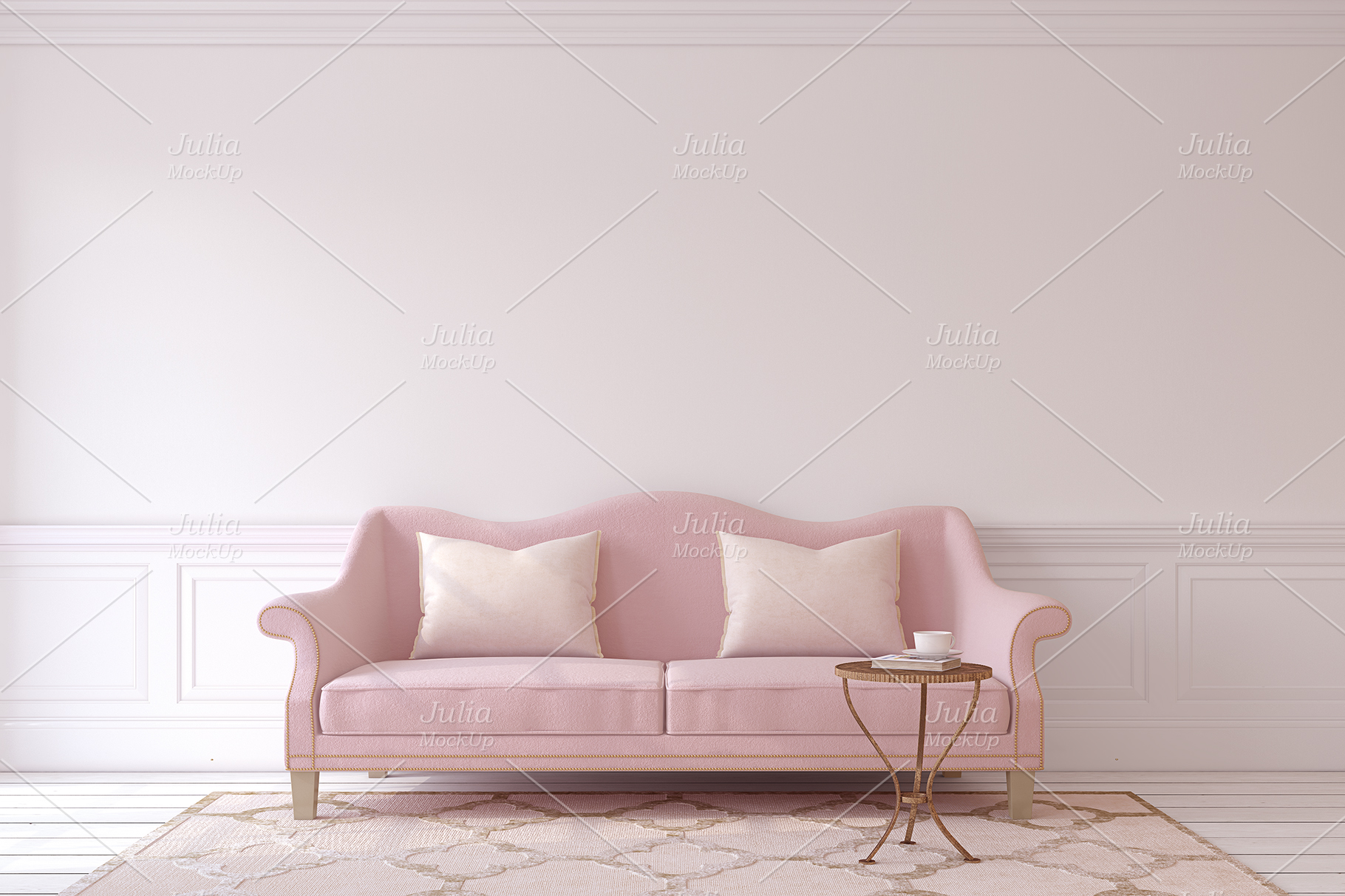 Pink Interiors. Frames&Canvases Mockup. example image 5