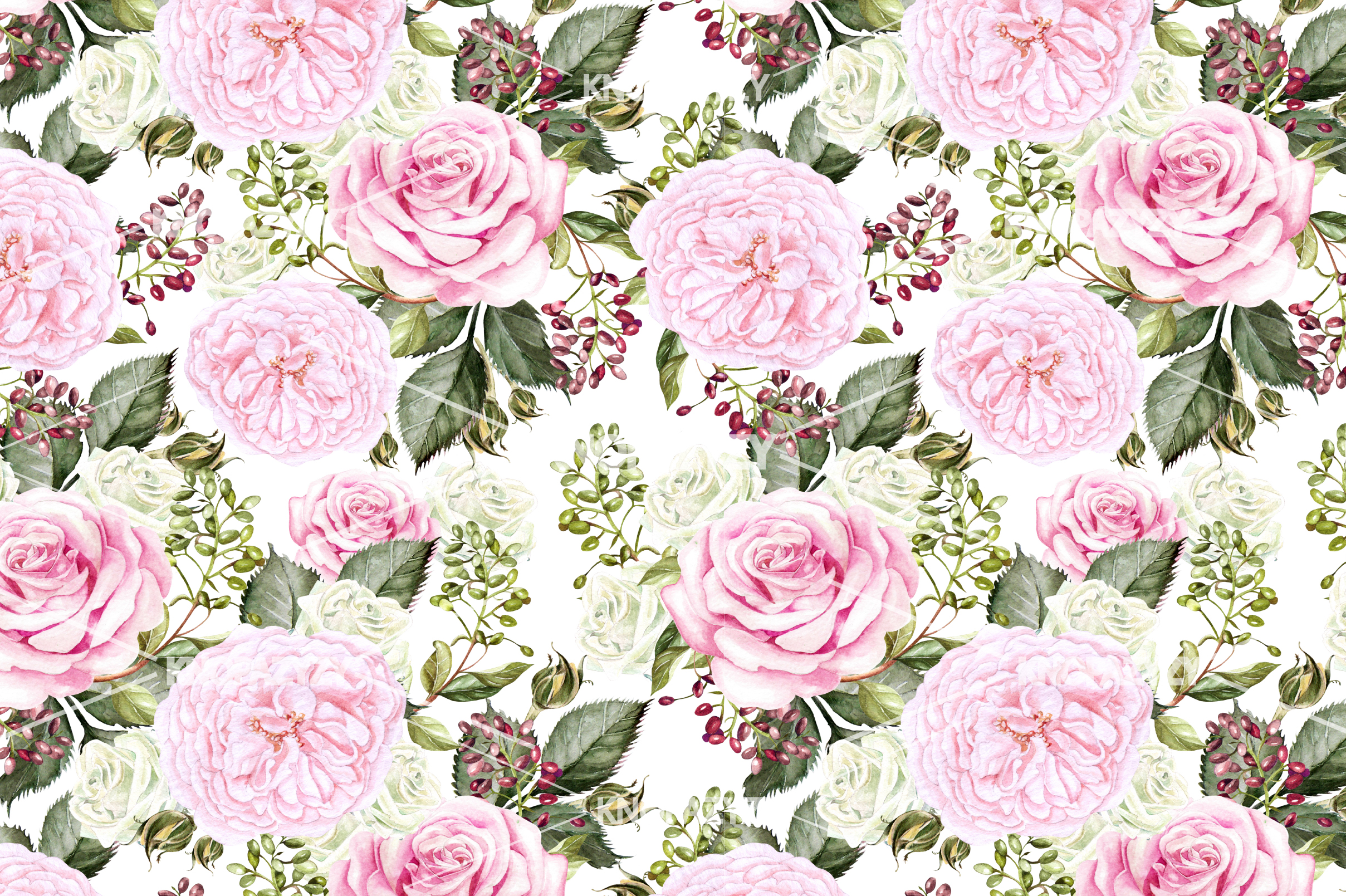 14 Hand drawn watercolor patterns example image 15