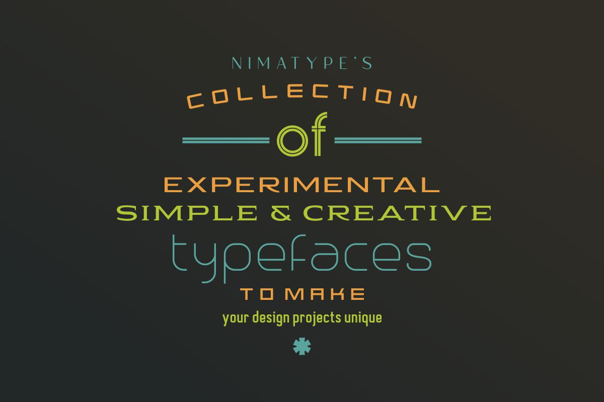 NimaType's Collection of Typefaces example image 1