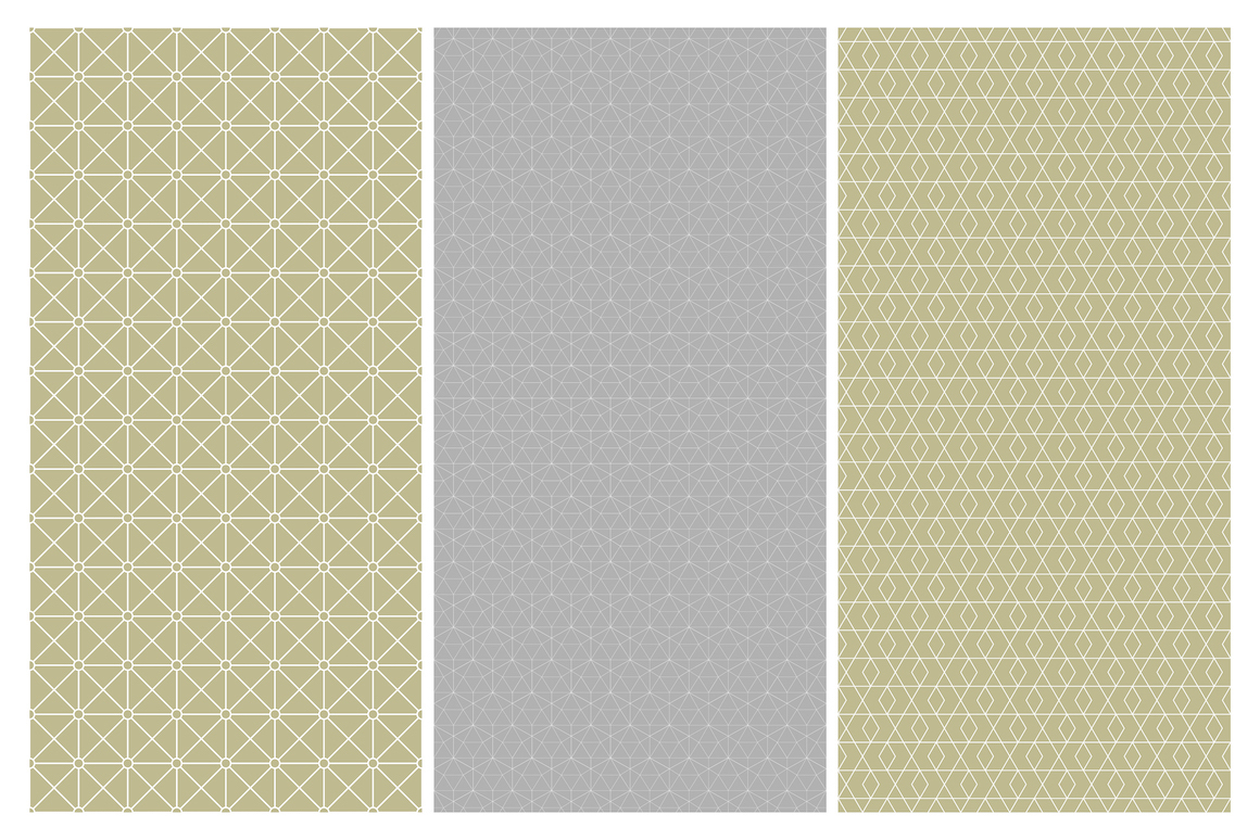 Geometric seamless symmetry patterns example image 8