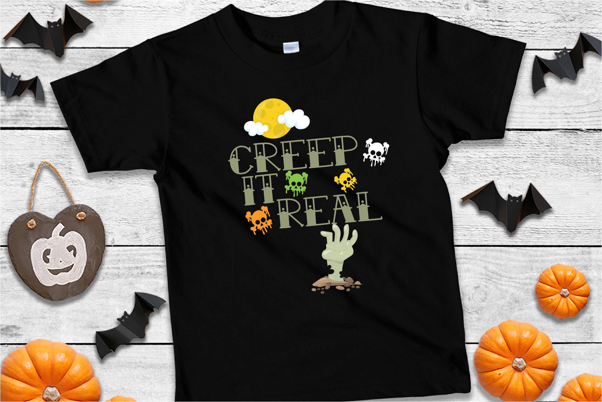 Creep It Real SVG Sublimation, Keeping It Real, Halloween example image 1
