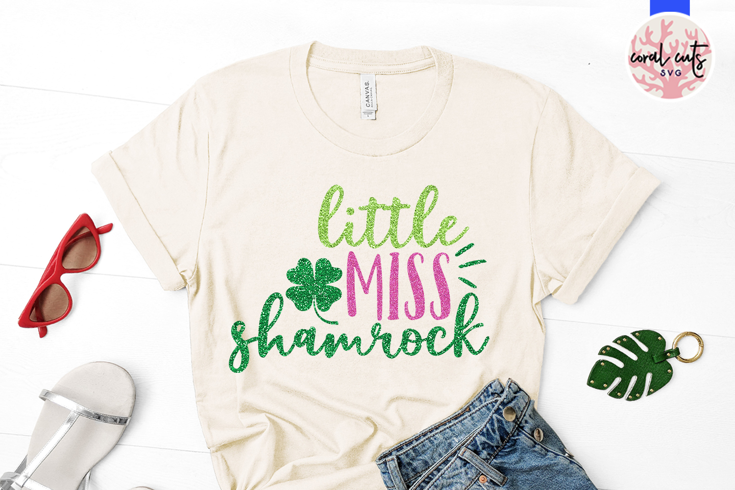 Little miss shamrock - St. Patrick's Day SVG EPS DXF PNG example image 2