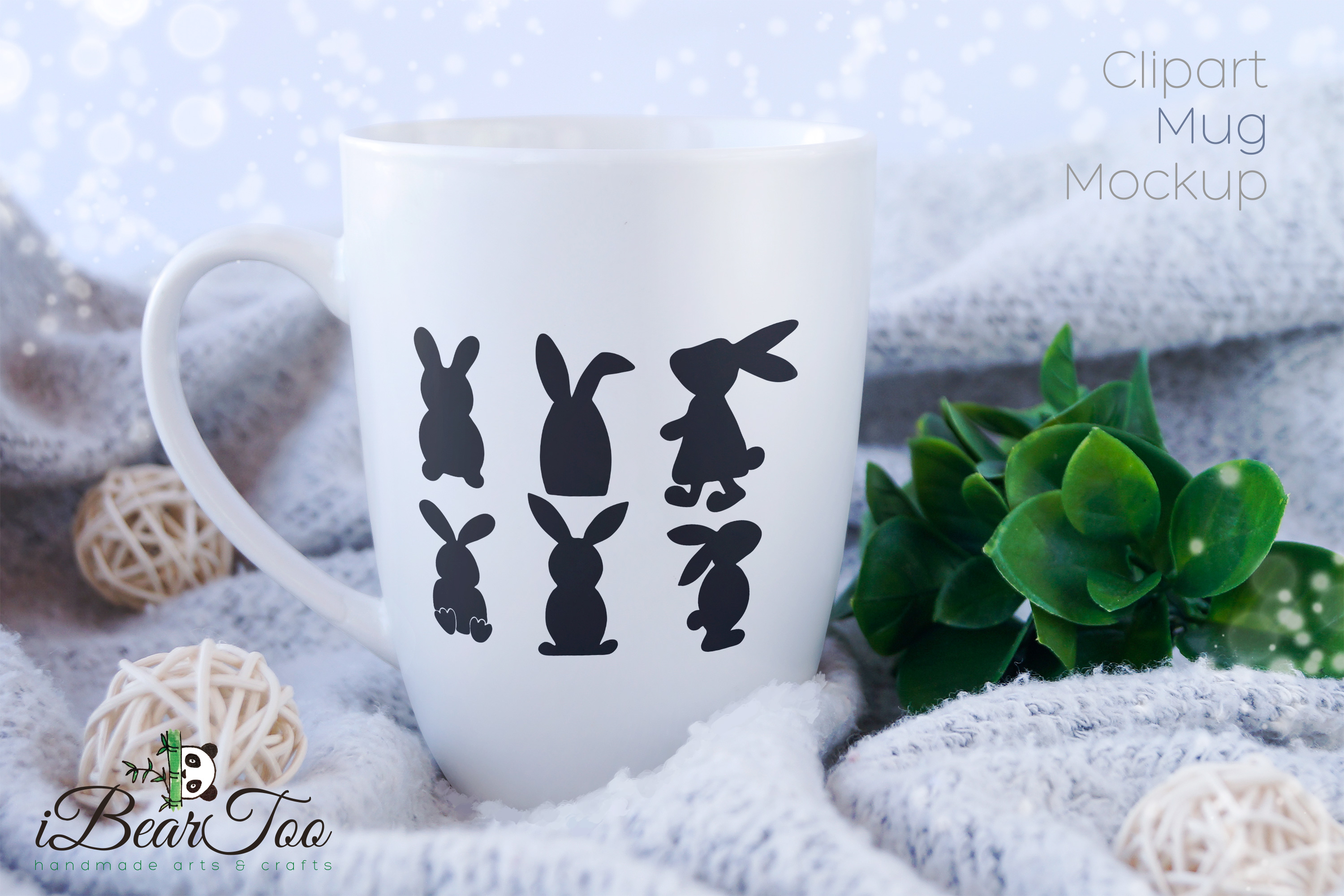 Easter Bunnies SVG Bundle Clipart Rabbits Vector Drawing example image 7
