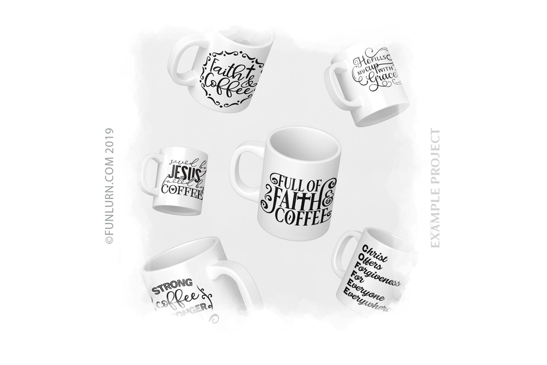 Coffee and Faith SVG Bundle example image 3