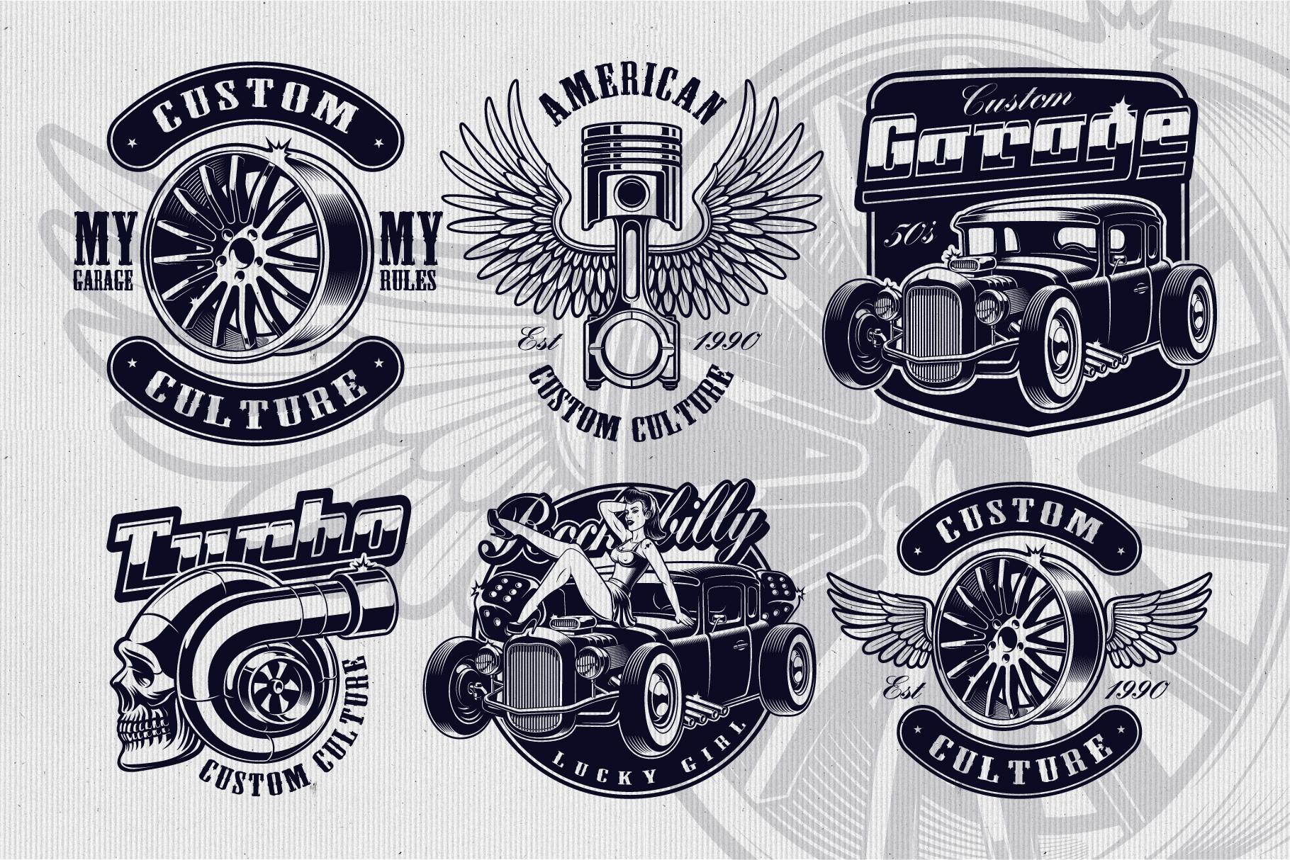 Car Service Vector Designs example image 2