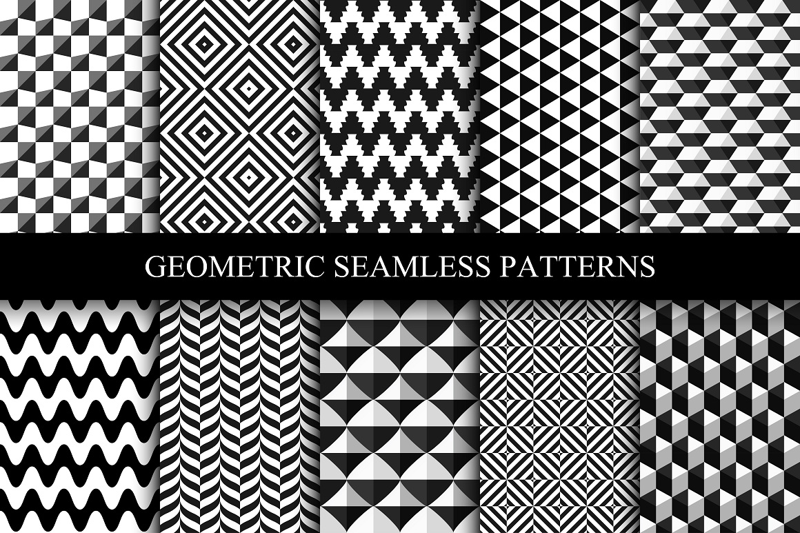 Geometric seamless modern patterns. example image 1