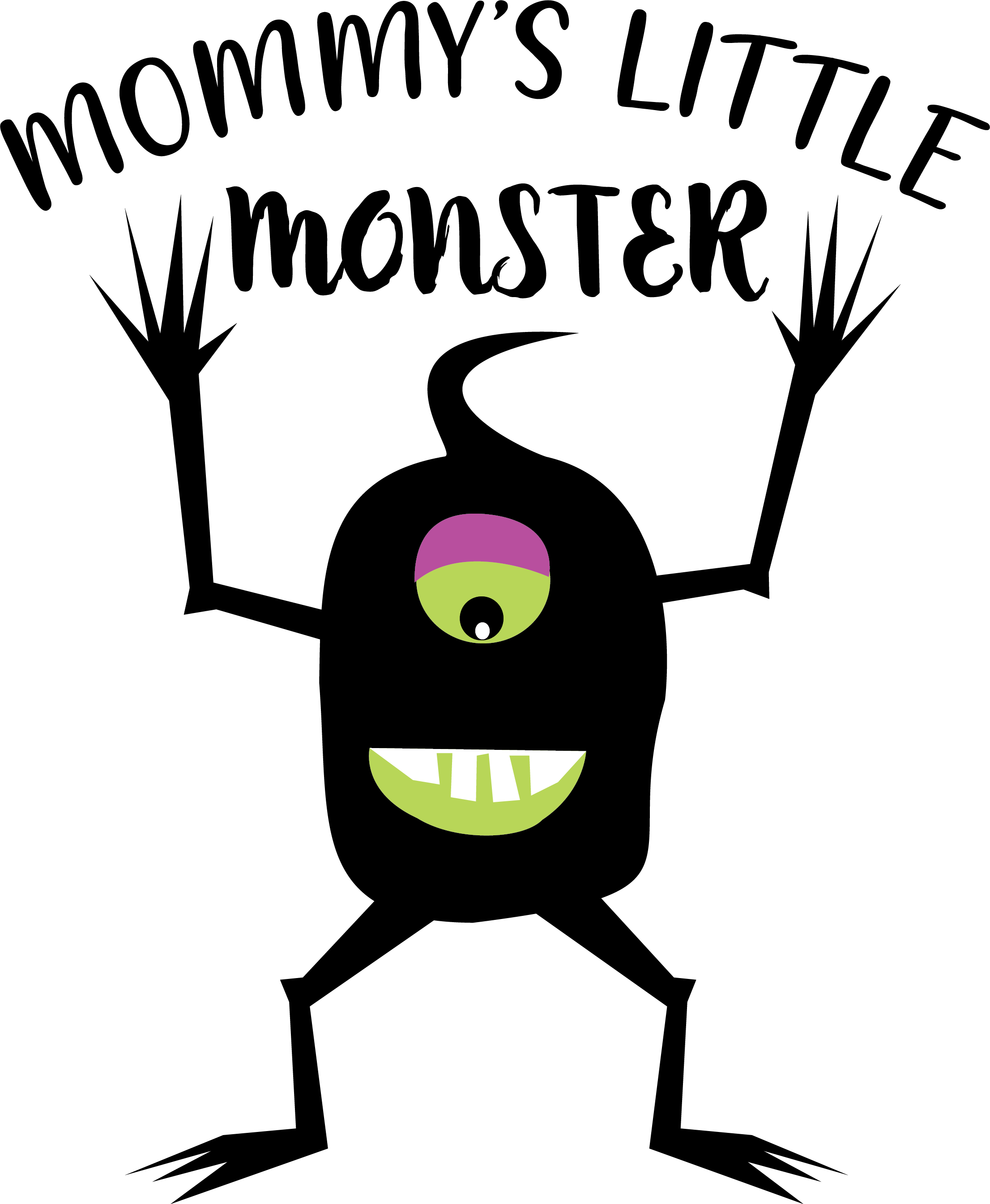 Mommy's little monster Fall Halloween graphic example image 2