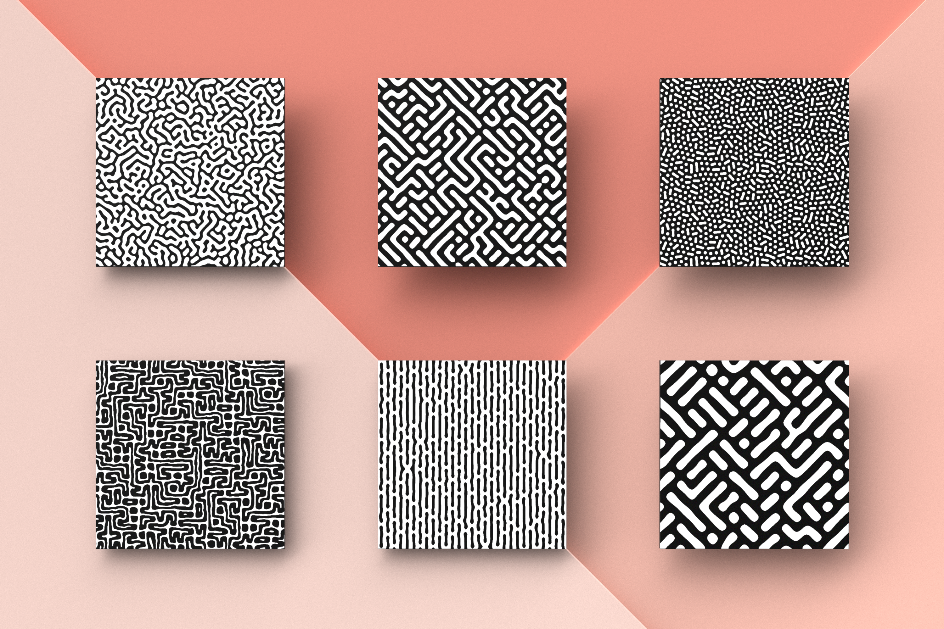 Organic Patterns - 50 trendy seamless textures example image 7