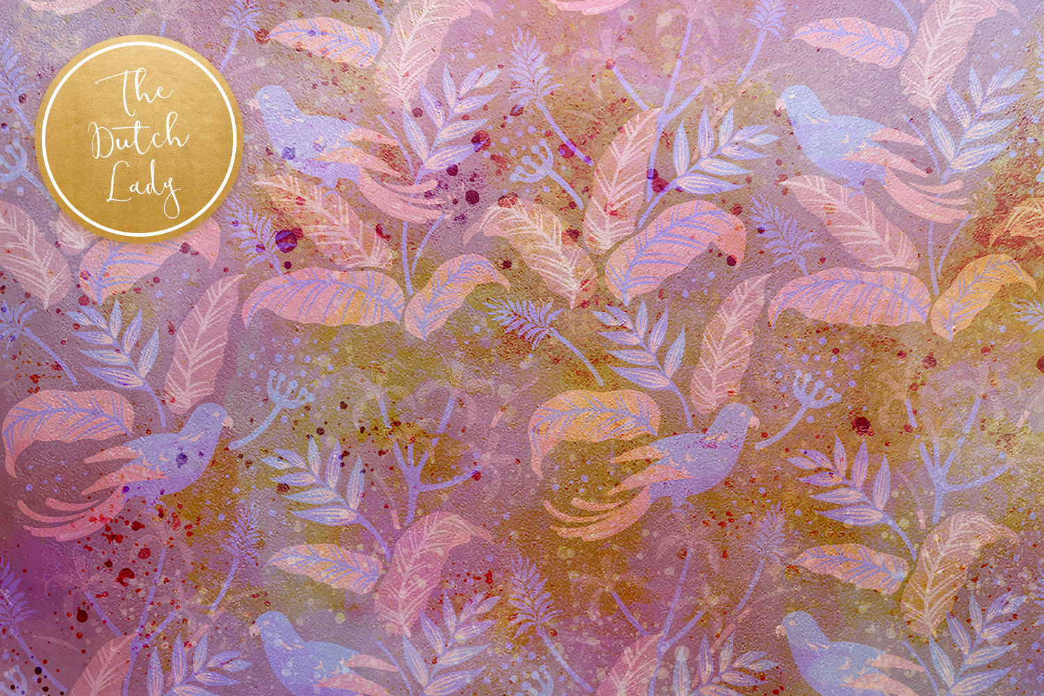 Floral Backgrounds & Paper Designs - Audrey example image 4
