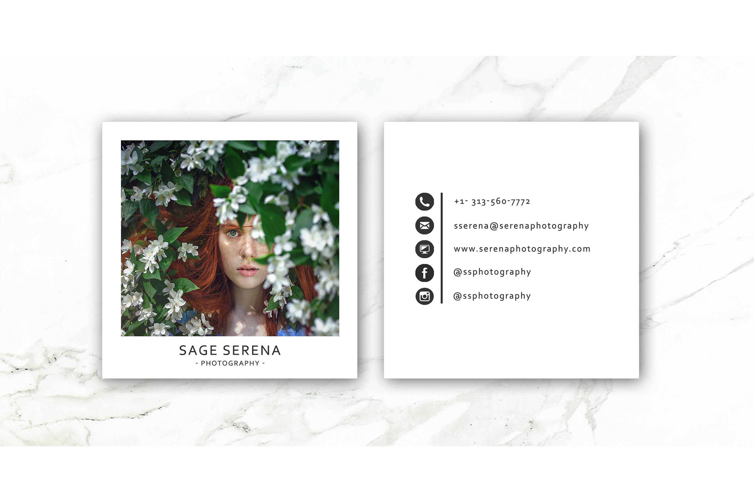 Business Card Template/ Polaroid Template example image 2