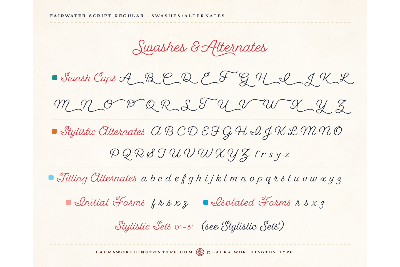 Fairwater Script Regular example image 10
