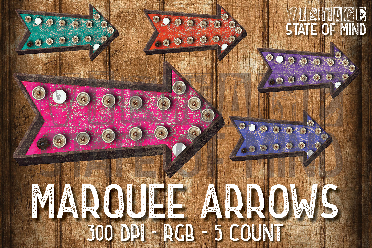 Marquee Arrows Sublimation Graphics example image 1