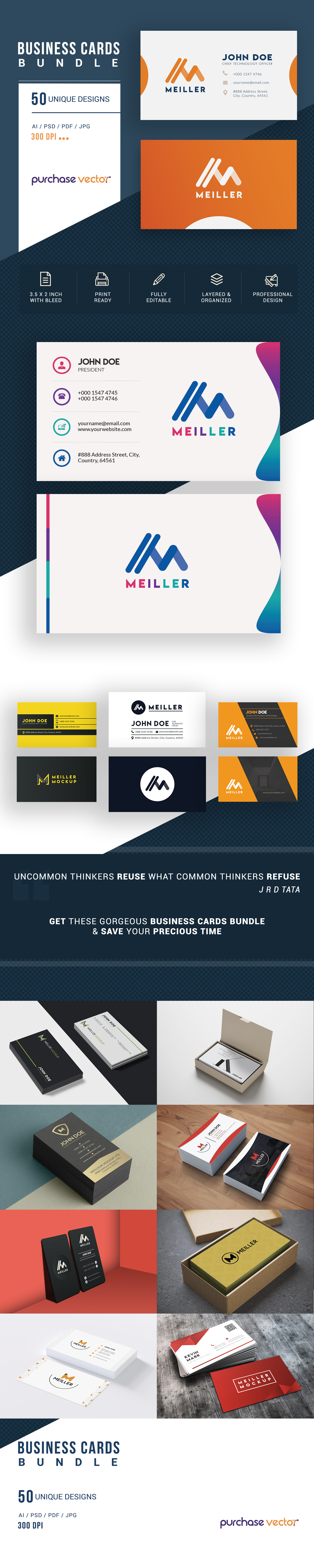 Professional Business Cards Templates example image 5
