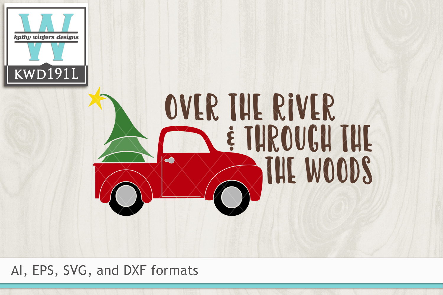 Christmas SVG - Over The River example image 2