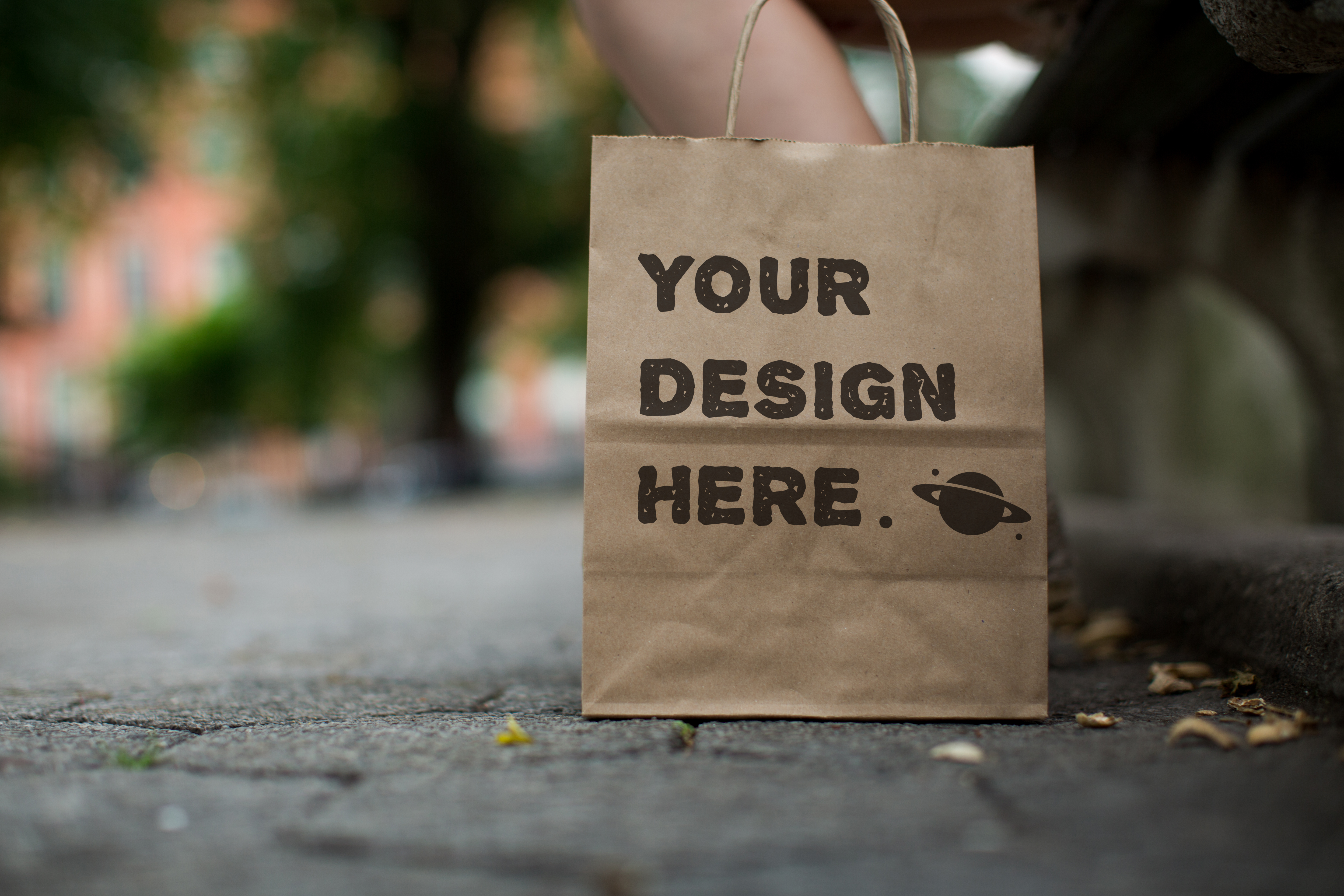 Set from 8 paper bags Mockups example image 6