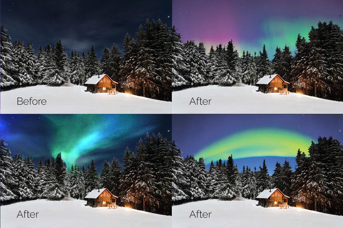 33 Aurora Borealis Photo Overlays example image 4