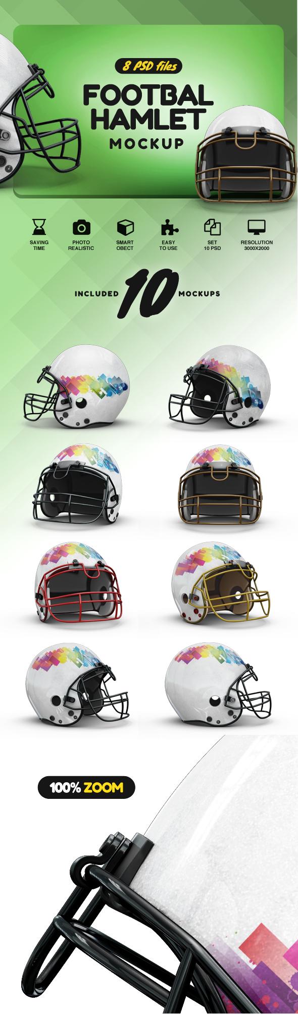 Football Helmet Mockup example image 2