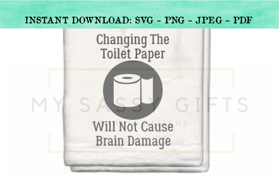 Changing The Toilet Paper Funny Bathroom SVG Graphic example image 2