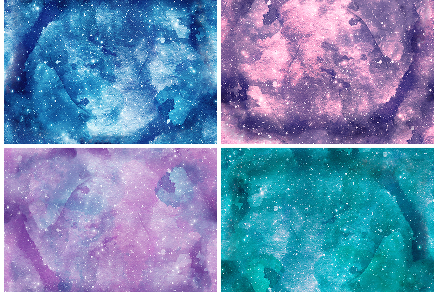 Watercolor Space Seamless Textures example image 7