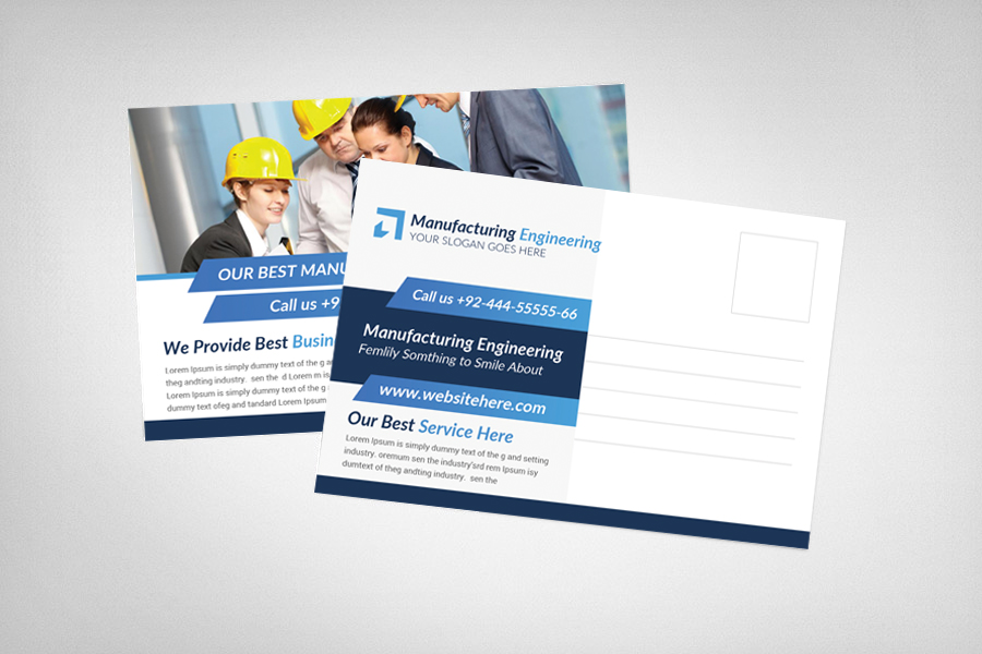Manufacturing Engineering Postcard Template example image 2