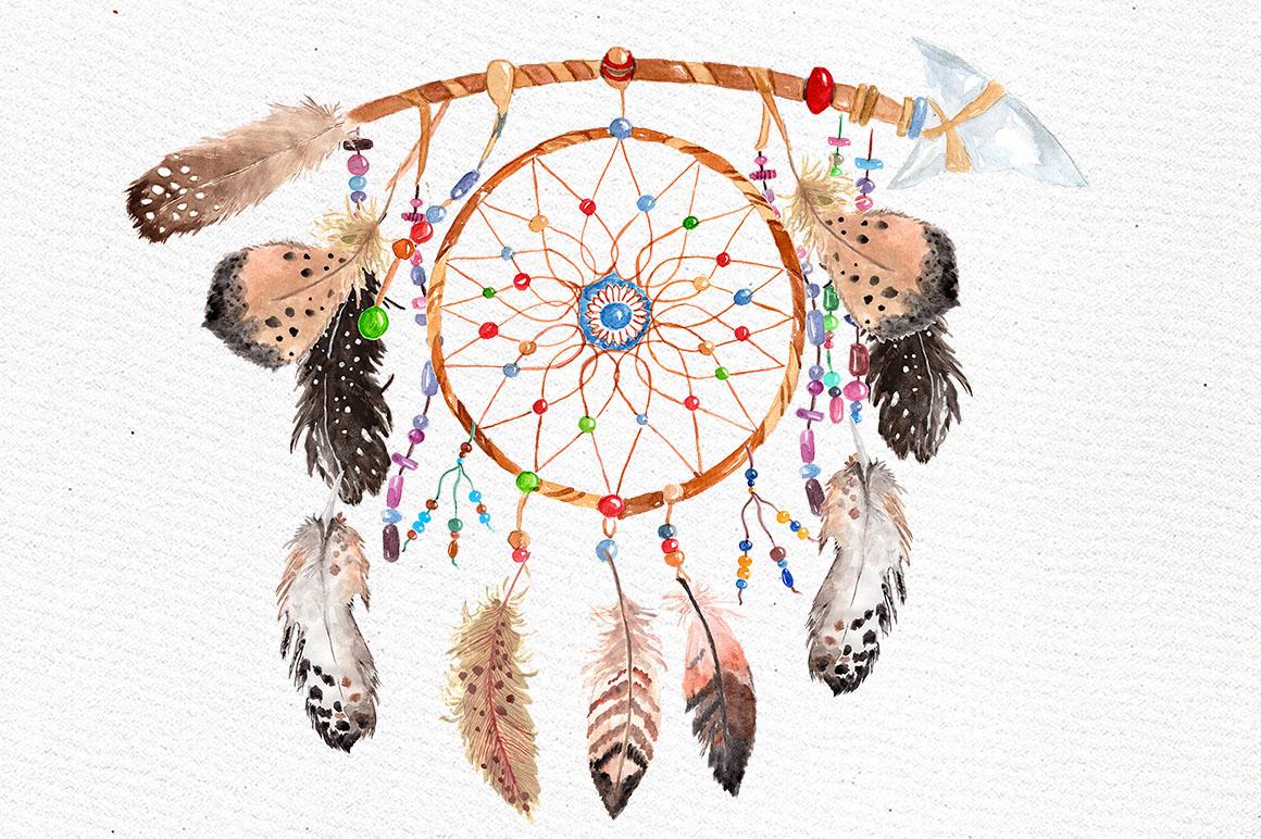 Dreamcatchers, Tribal clip art example image 2