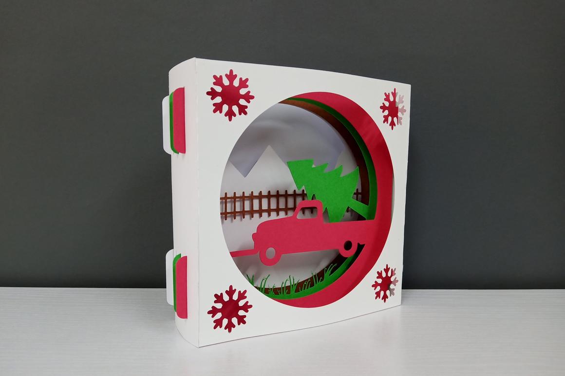 DIY Christmas Card - 3d papercraft example image 9