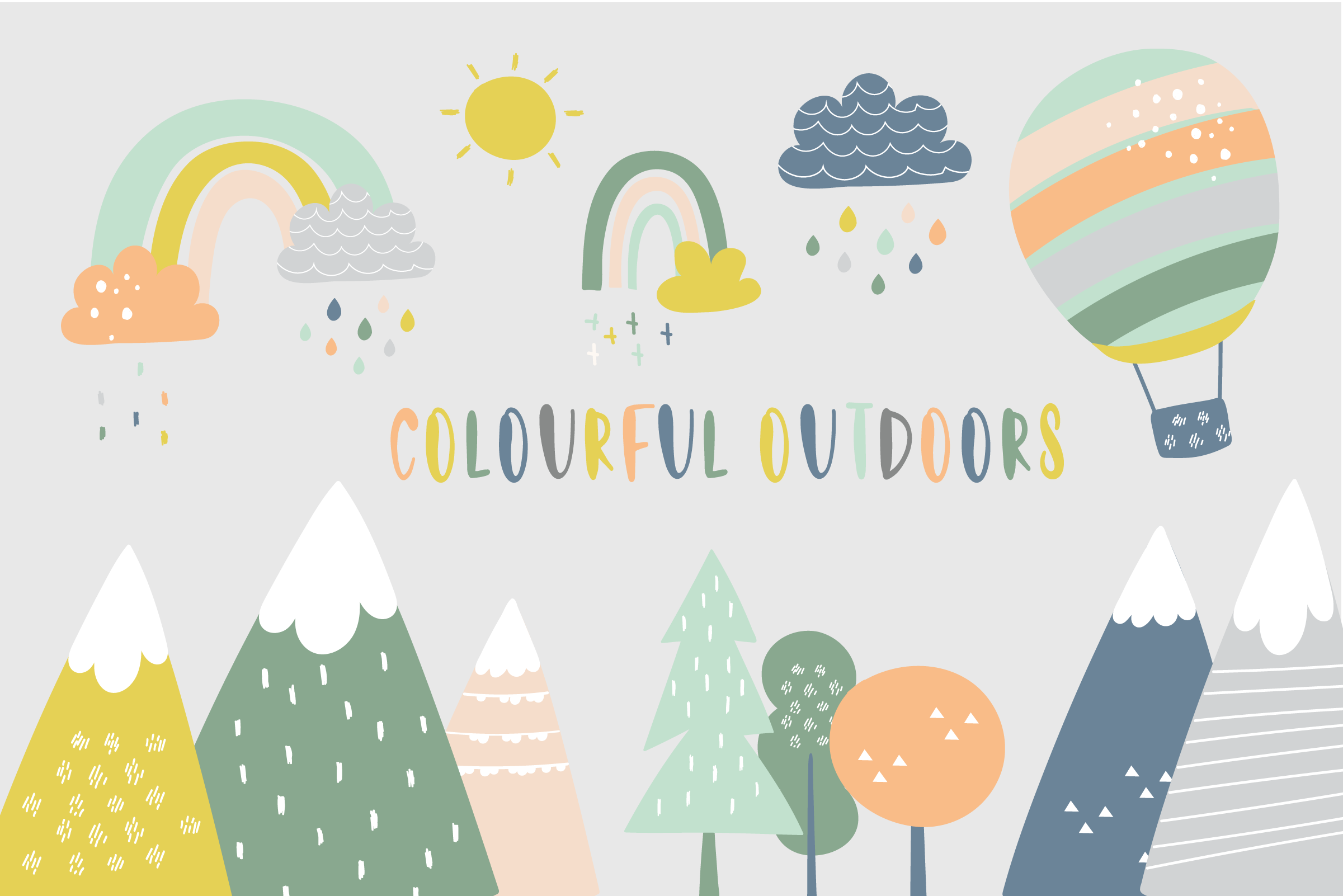 Colourful Outdoors set example image 1