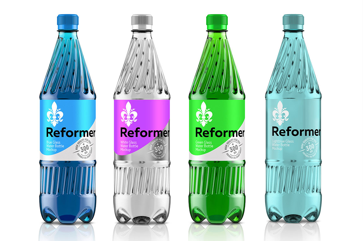 Water Bottle Mockup (4 files) + Poster example image 1