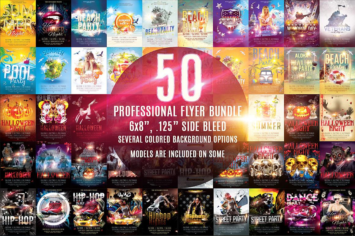 50 Professional Flyer Bundle example image 1