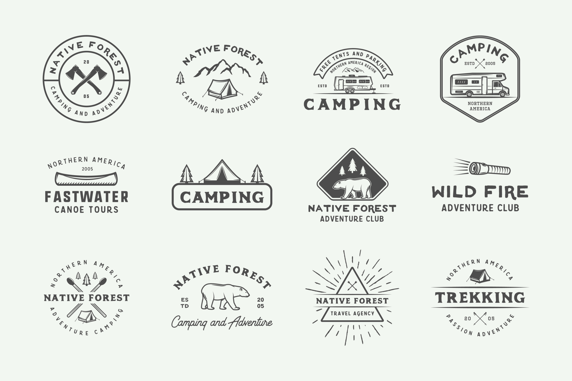 Camping and Adventure Emblems example image 5