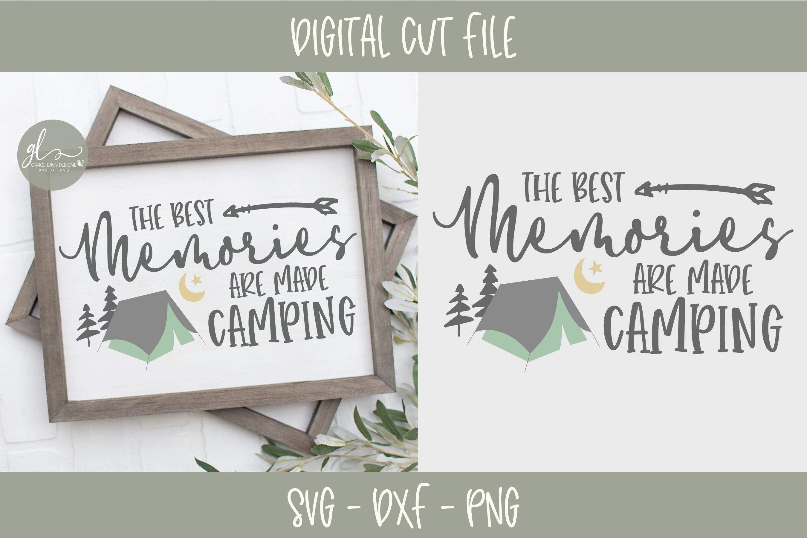 Camping Bundle - 10 Camping SVG Cut Files example image 2