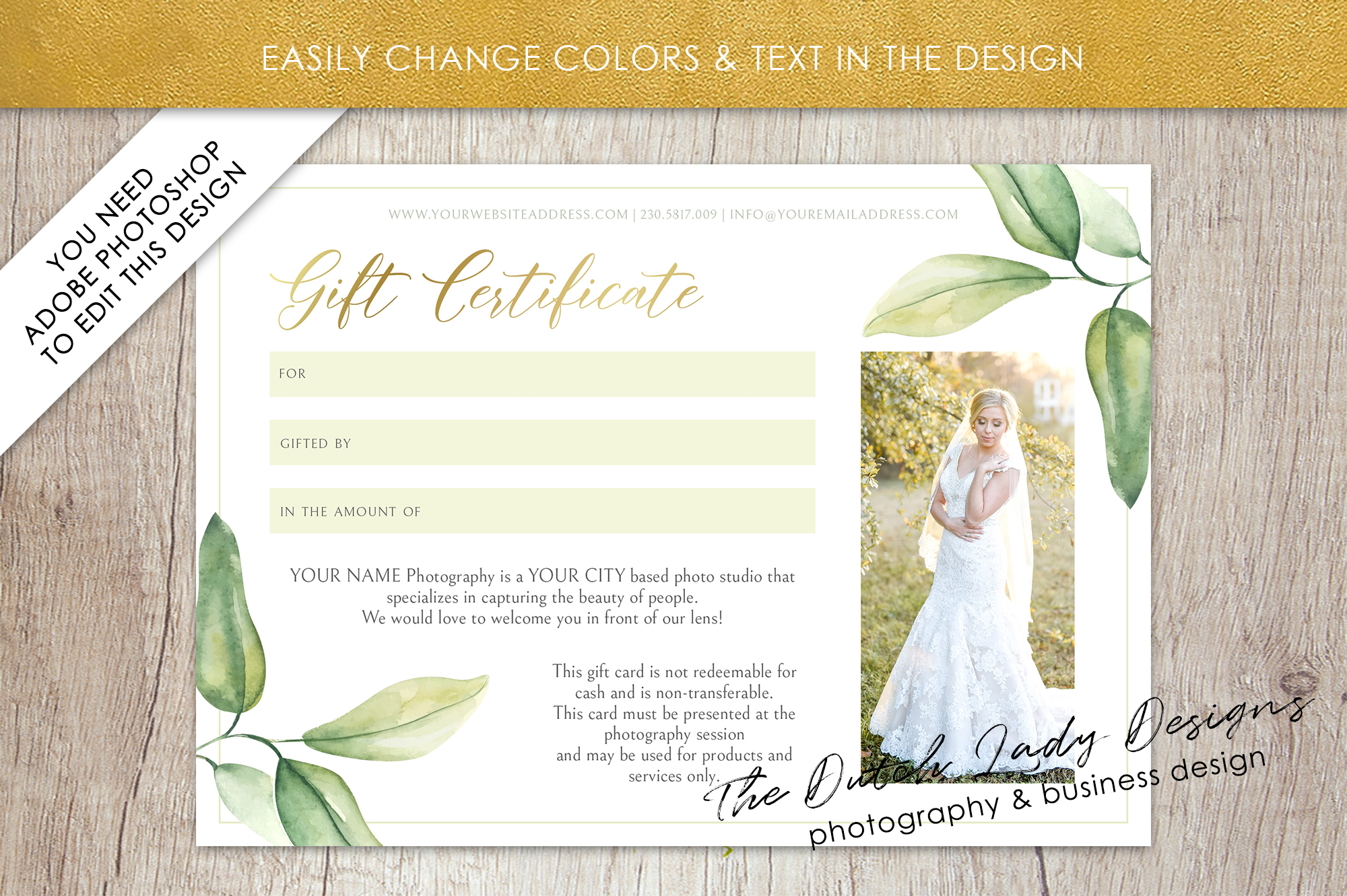 Photo Gift Card Template for Adobe Photoshop - #53 example image 5