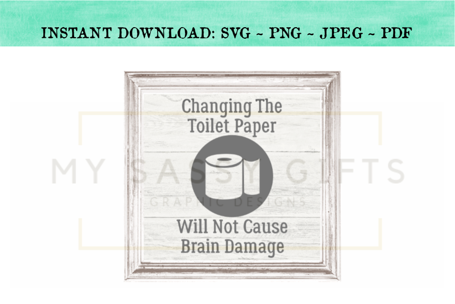 Changing The Toilet Paper Funny Bathroom SVG Graphic example image 3