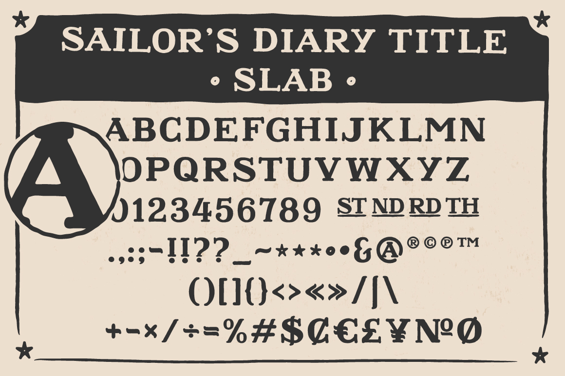 Sailors Diary Sans & Title Slab Tattoo Style Font example image 7