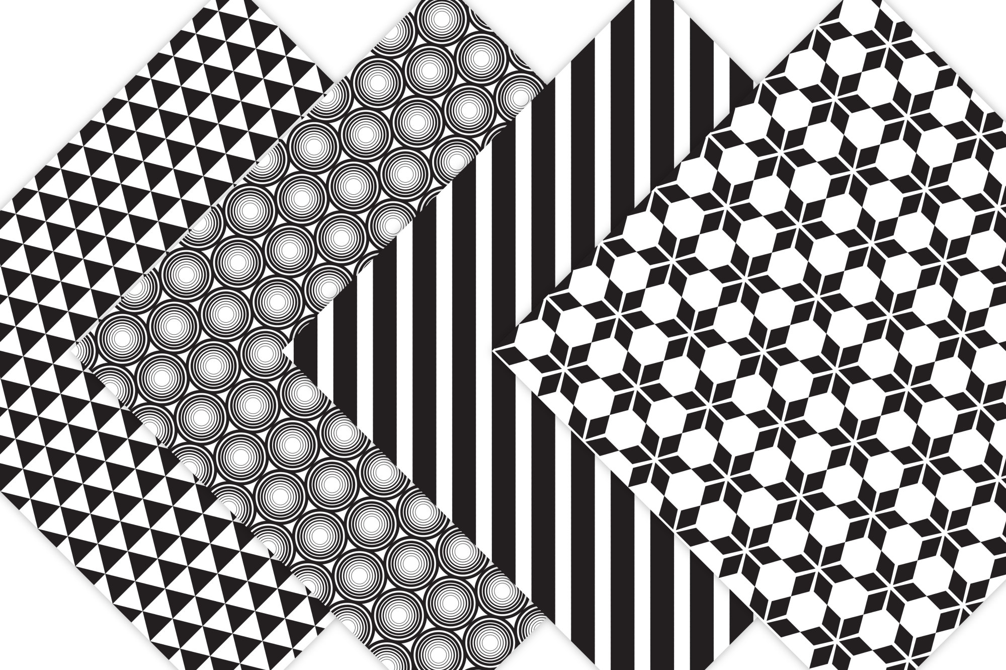 Black and White Digital Paper  example image 2