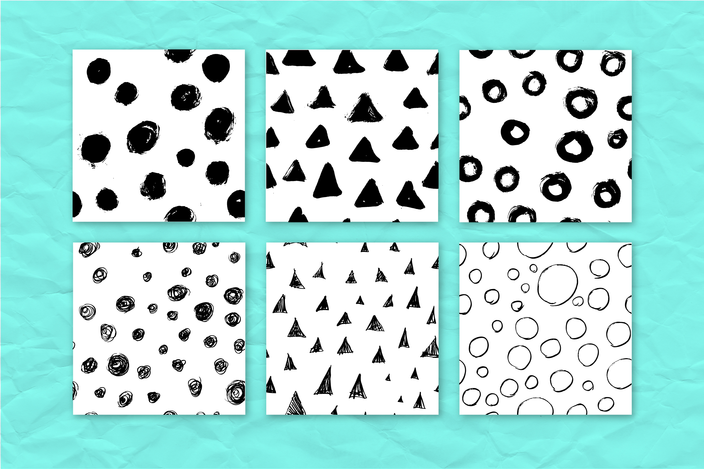 34 ink effect seamless patterns v3 example image 6