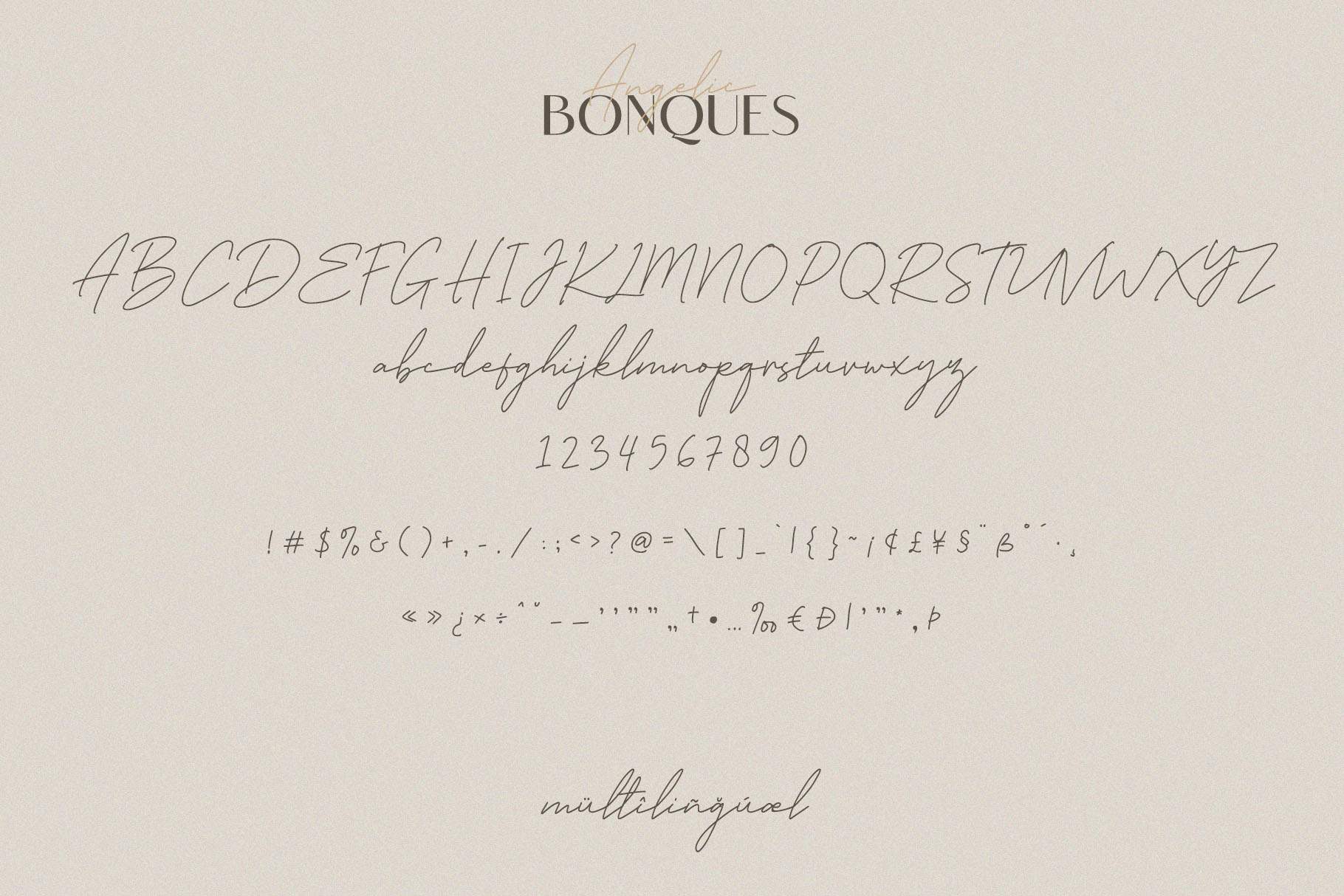 Angelic Bonques - Font Duo example image 7