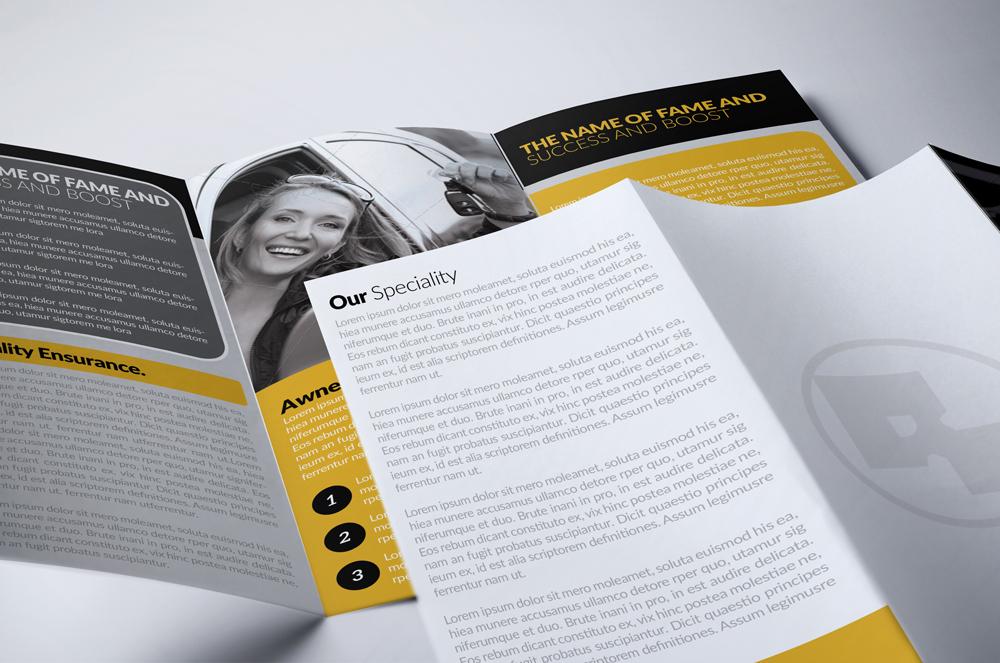 Automobile Service Tri-Fold Brochure Template  example image 3