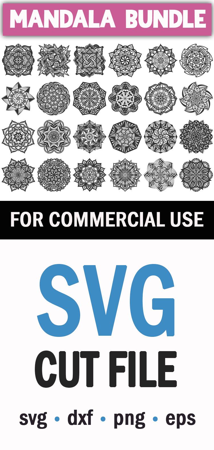 Mandala Bundle SVG, PNG, EPS, DXF example image 3