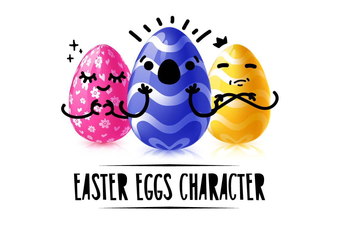 Collection of Easter eggs character example image 1