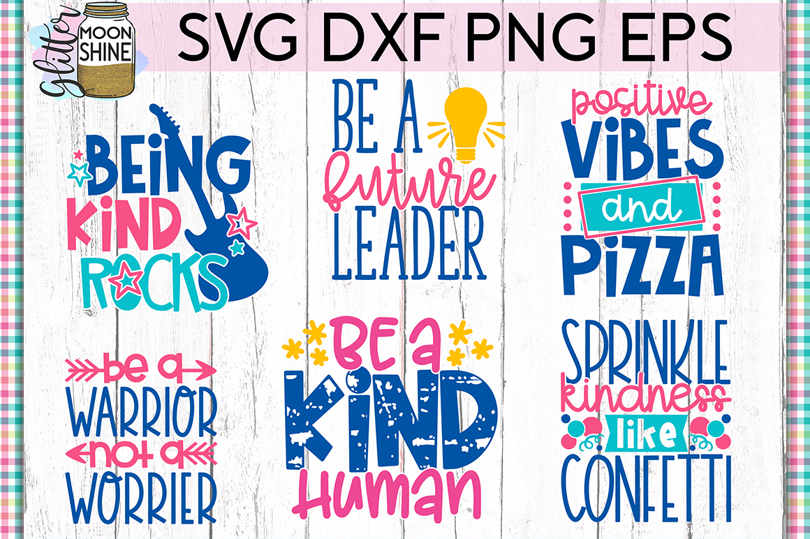Positivity Bundle of 19 SVG DXF PNG EPS Cutting Files example image 3