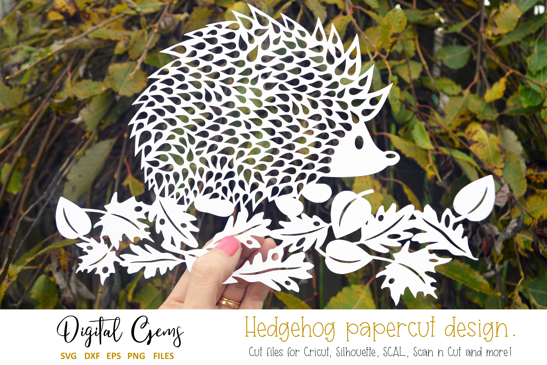 Hedgehog Paper Cut Svg Dxf Eps Png Files 40601 Svgs Design Bundles