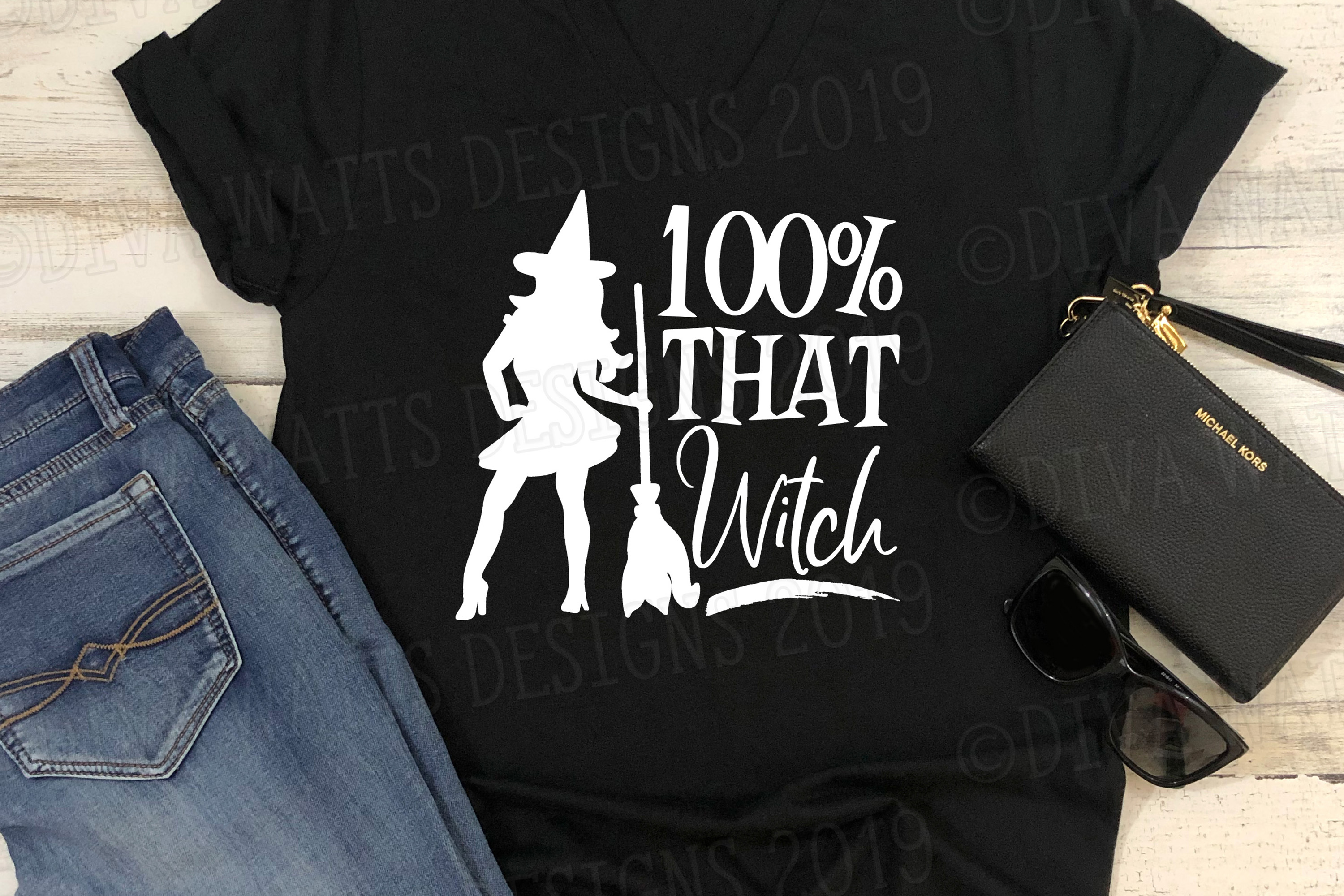 100 percent THAT Witch Halloween Cutting File Sexy Witch example image 1